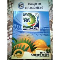 Álbum + Lote 125 Figurinhas Copa Das Confederações 2013