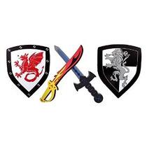 Espuma Espada Y Escudo 2 Paquete Ninja Warrior Armas Juguete