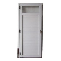 Puerta Aluminio Exterior 1/4 Vidrio 80x200 Doble Perno