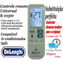 Controle Universal Backlight Ar Condicionado Split Delonghi