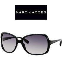 Óculos De Sol Feminino Marc Jacobs Preto Grande Original