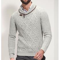 Sweater Cuello Cruzado Caballero 155010 Ci1 Envío Gratis