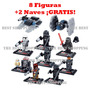 Lego Star Wars Figuras Compatible Bb8 Kiloren 2 Naves Gratis