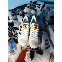 Adidas Superstar Blanco Con Líneas Negras Envío Gratis