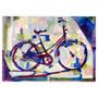 Quadro Pintura Bicicleta