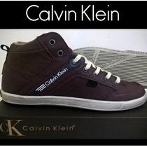 Sapatenis Tenis Calvin Klein Bota Original Luxo Barato Novo