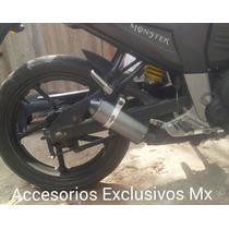 Escape Deportivo Pipa Exhaust Fz16 Pulsar 200ns Corto Yamaha