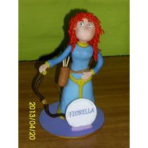 Valiente Princesa Merida En Porcelana Fría Para Tu Torta