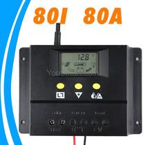 Controlador De Carga Solar 80a 12/24v