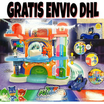 Luces Sonidos Cuartel Pj Mask Headquarters Playset Cat Boy