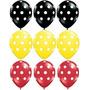 Globos Con Lunares Mickey X 12 Unidades
