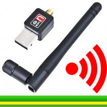 Adaptador Wireless Usb Wifi 300mbps Lan B/g/n Com Antena