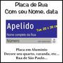 Placa De Rua De Sp Em Aluminio - Com Seu Nome 20 X 30 Cm