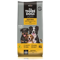 Ração Three Dogs Cães Adultos Raças Médias Original 15 Kg
