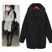 Campera Saco Abrigo Negra Negro