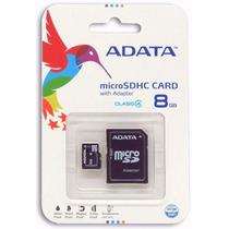 Memoria Micro Sd 8 Gb Adata Para Celulares Camaras Digitales