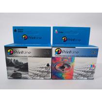 Combo Cartuchos 92 Y 93 Genericos Printline Hp Compatible