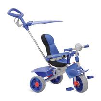 Triciclo Smart Comfort Carrinho Bebe Passeio Azul Bandeirant