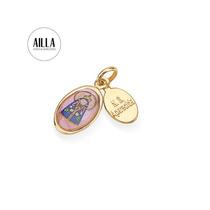 Medalha Oval Infantil Nossa Senhor Aparecida 541692 Rommanel