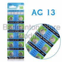 Baterias Ag13 Lr44 1.55v Tmi - Cartela Com 10 Unidades