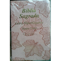 Bíblia Sagrada Feminina C/harpa Rosa Letra Hiper Gigante Arc