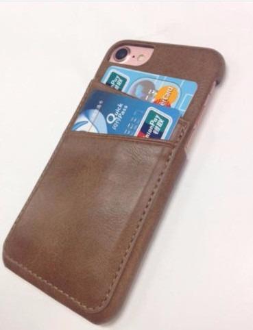 233cc2c8d Capa Couro Premium Iphone 7 Marrom - Com Porta Cartão - R  34