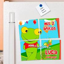 10 Souvenirs Rompecabezas Imantados Sapo Pepe Pepa Amigos