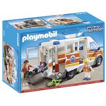 Retromex Playmobil 5541 Ambulancia Con Sirena Ciudad Rescate
