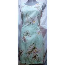 Vestido Fresco Tipo Hawaiano. Talla Mediana.100% Algodon
