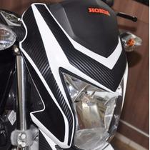 Adesivo Carbono Tuning Carenagem Farol Moto Honda Bros 160