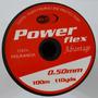 Tanza Nylon Power Flex 0,50mm. X Rollos De 100m