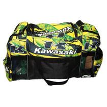 Bolso Motocross Kawasaki Ninja Kx Klx Xlr Klr Botas Moto