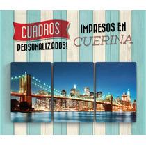 Cuadros Personalizados Impresos En Cuerina - Tríptico