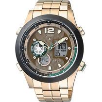 Relógio Citizen Jz1002-56w Jz1002 Analógico Digital Eco-driv