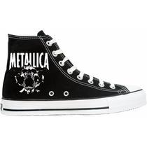 Tênis Metallica All Star Converse Cano Alto Lindissímo !!!