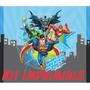 Kit Imprimible Liga De La Justicia Superman Batman Flash 2*1