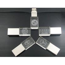 10usb Cristal Personalizadas Con Grabado Laser Publicitaria