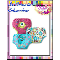 Sets Calzoncitos Entrenadores Cars Y Monster Inc 18-36 Meses