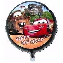 Balão Metalizado Carro Relampago Macquenn - Kit/10 Balões