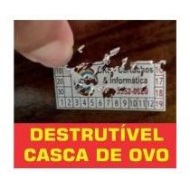 1280 Lacres Casca De Ovo Garantia - 1x1 Cm. Confira Outros