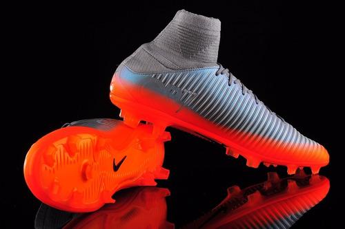 bef51b72a01 Nike Mercurial Veloce Iii Df Fg Cr7 Gris Naranja Fluo (bota ...
