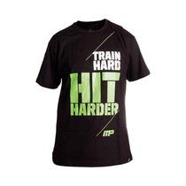 Camiseta Train Hard Preto - Muscle Pharm Arnold Mp