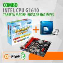 Combo Intel Cpu G1610 2.60ghz+ Tarjeta Madre Biostar H61mgv3