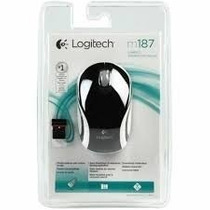Mouse Sem Fio Wireless Adap. Nano 2.4ghz Logitech M187