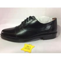 Zapato Cuero Fino Caballero Costura Vestir Traje Unifor 850