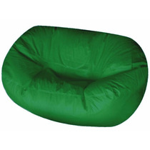 Puff Pufe Puf Duplo 1,40m Courino Sala Quarto Verde Bandeira