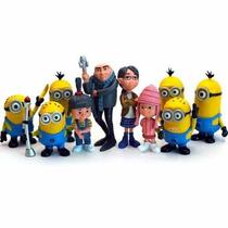 Bonecos Coleção 10 Miniaturas Minions Meu Malvado Favorito