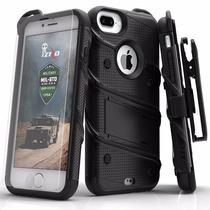 Iphone 7 Funda Incluye Clip Cristal Templado Zizo Case
