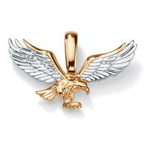 Dije Águila De Oro 10k C/acento De Diamantes Hombre Dorado