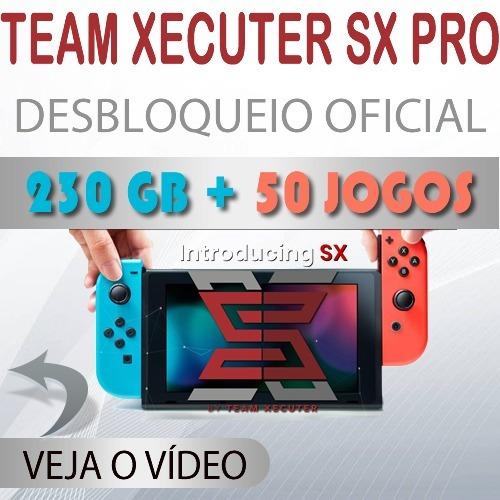 Nintendo Switch 230 Gb + 50 Jogos Destravado Sx Pro Xecuter - R  2.999 a45b5160a27